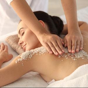 Resultado de imagen de masaje peeling sal