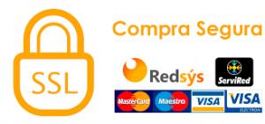logotipo de Redsys con logo de mastercard, Maestro, Visa y Visa electron