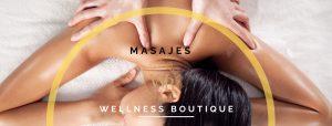 mujer recibiendo un masaje de espalda en Wellness boutique