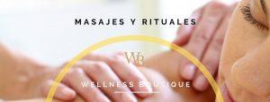 mujer tumbada recibiendo un masaje relajante de espalda en Wellness boutique